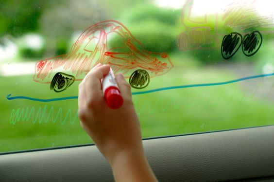 Window art best car games for kids the-ultimate-guide-to-road-trip-entertainment-by-Unplugged-Family-Time