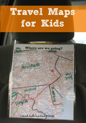 travel map best car games for kids the-ultimate-guide-to-road-trip-entertainment-by-Unplugged-Family-Time
