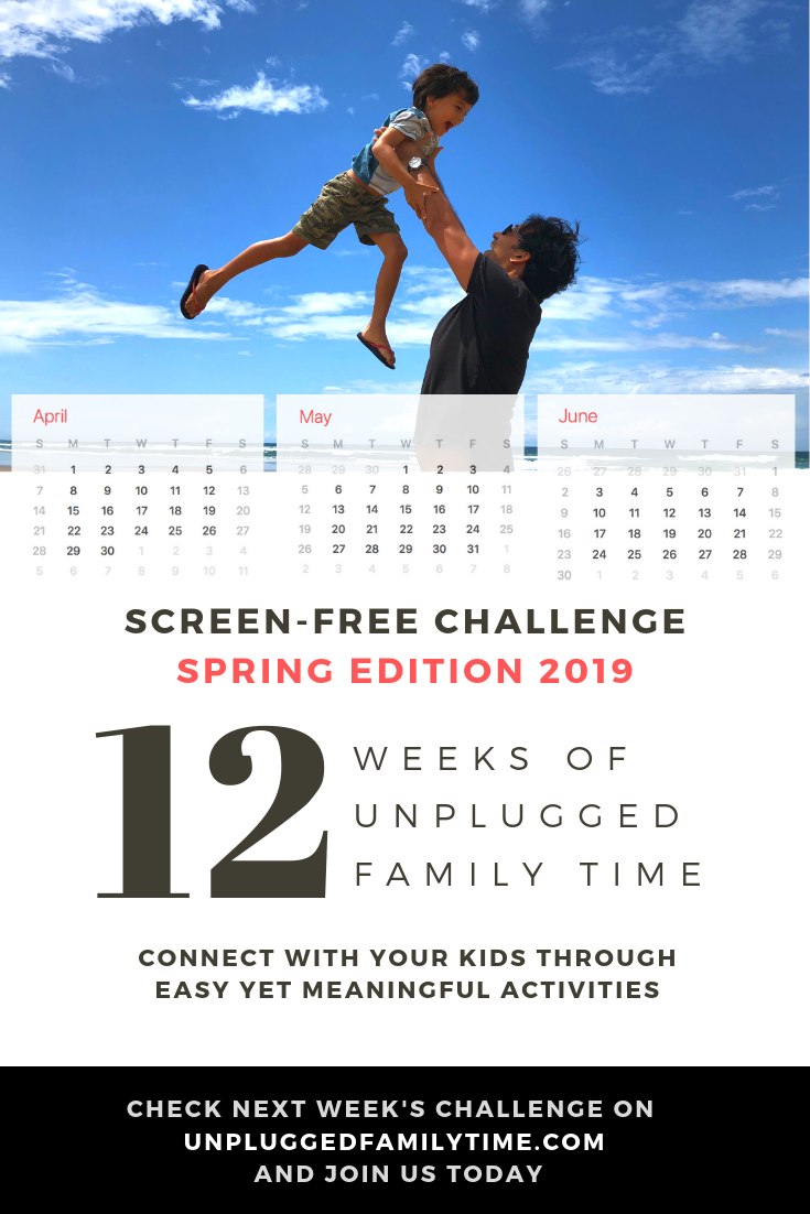 Screen free activities 12 week challenge spring edition 2019