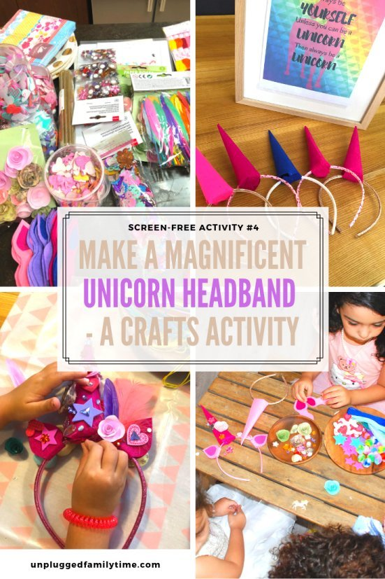 Unicorn Headband Screen-Free-Challenge-Unplugged-Family-Time-1