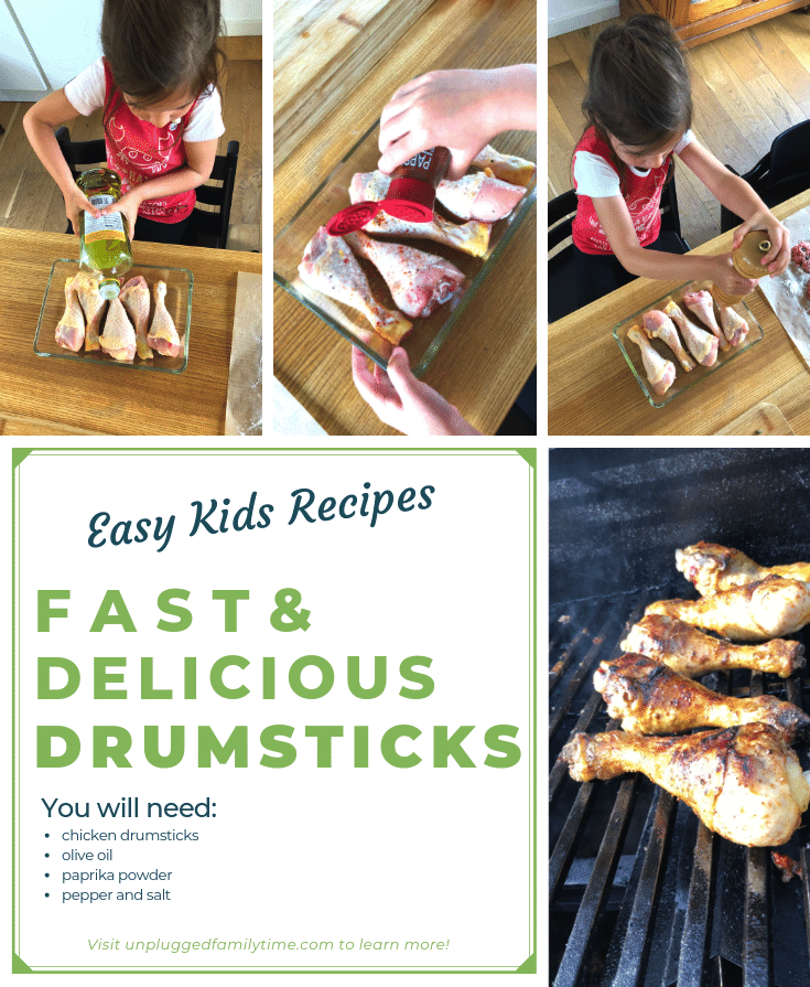 Cooking with Kids Easy-Kids-Recipes-Fast-Delicious-Chicken-Drumsticks-Recipe