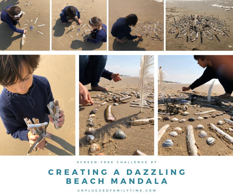 Results Creating a Beach Mandala Beach combing and Beach Crafts Unplugged Family Time