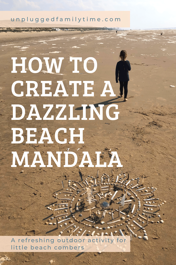 How to create a dazzling beach mandala Beach Crafts Unplugged Family Time